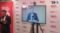 Oriol Junqueras en rueda de prensa desde la cárcel de Soto del Real