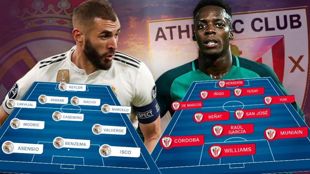 El Real Madrid quiere recuperar sensaciones con el Athletic.