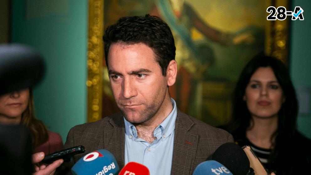 Teodoro Garcia Egea en Murcia. Foto. Twitter.
