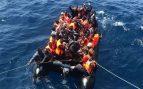Inmigrantes rescatados en Algeciras.