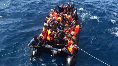 Inmigrantes rescatados en Algeciras