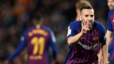Jordi Alba celebra su gol ante la Real Sociedad. (AFP)