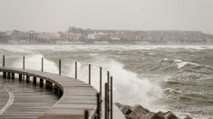 Imagen del temporal en la Comunidad Valenciana. Foto. EFE