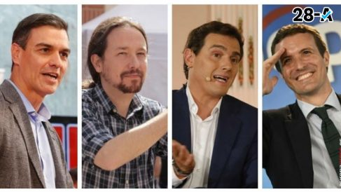 Montaje debate TVE. Foto: EP