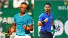 Nadal se enfrenta a Fognini en las semifinales del Masters 1000 de Montecarlo. (Getty)