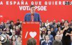 """Sánchez llama a PP, C's y Vox el """"bloque de la involución"""" y pide a sus militantes que """"no se relajen"""""""