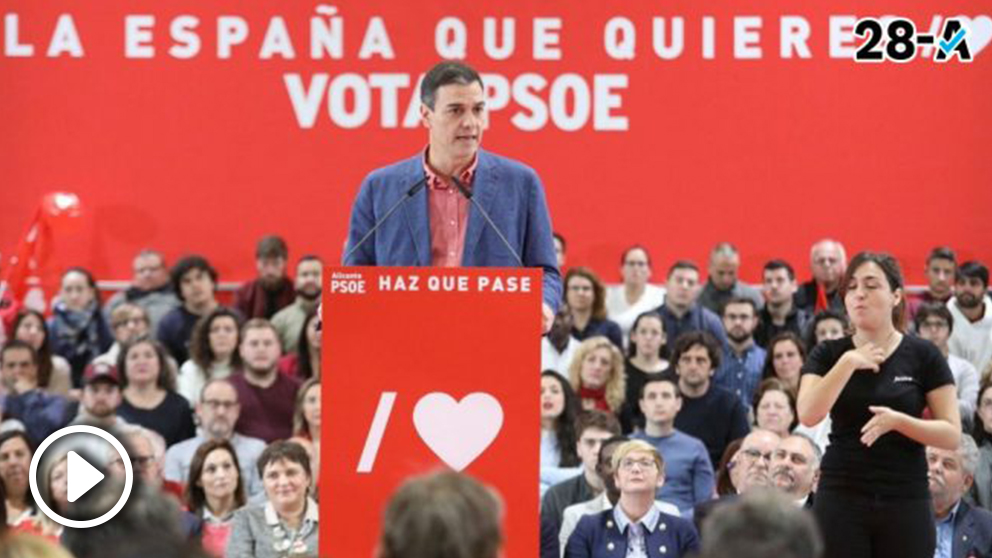 Pedro Sánchez en Alicante. Foto: EP