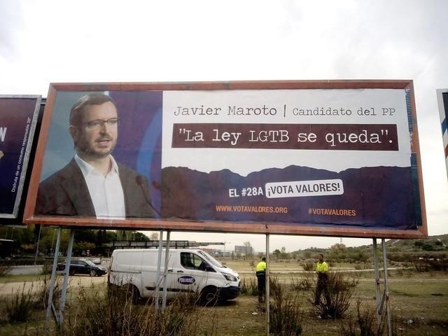Valla publicitaria de Hazte Oír en Fuenlabrada. Foto. Europa Press