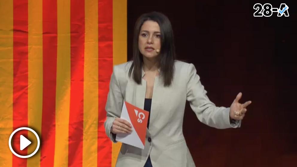 Inés Arrimadas en un acto de campaña
