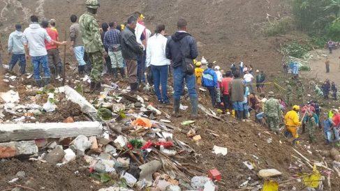 Deslave en Colombia.