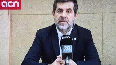 Jordi Sànchez desde la prisión dando un mitin. Foto. EP.