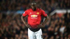 Romelu Lukaku, durante un partido con el Manchester United. (Getty)