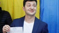Volodimir Zelenski nuevo presidente de Ucrania (Foto: AFP)
