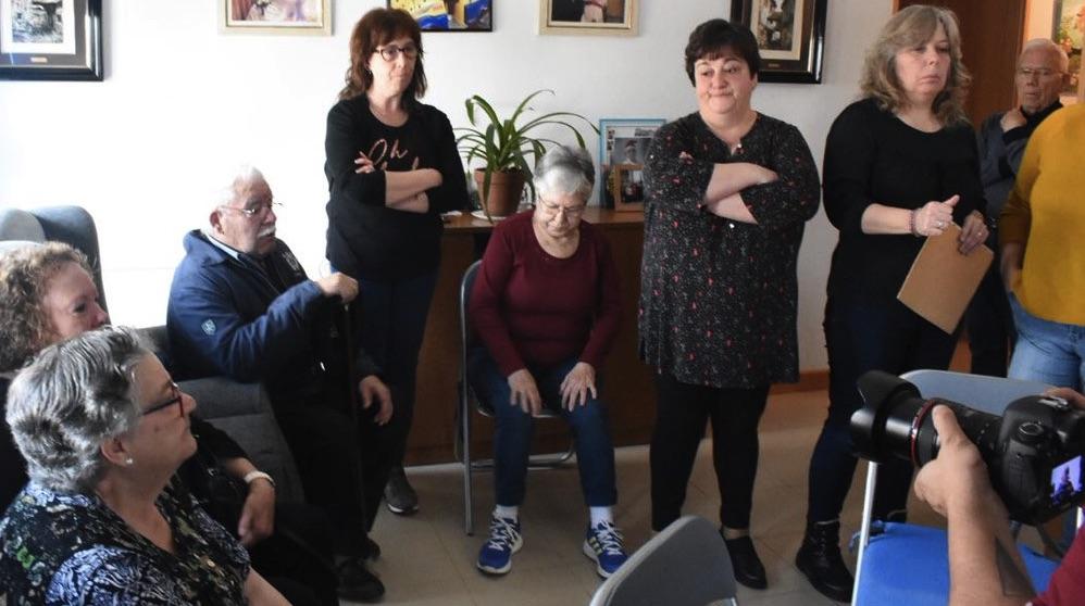 Algunos de los afectados por el Plan Permuta del PSOE. (Foto. Podemos)