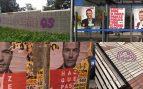 Algunos de los carteles y pintadas.