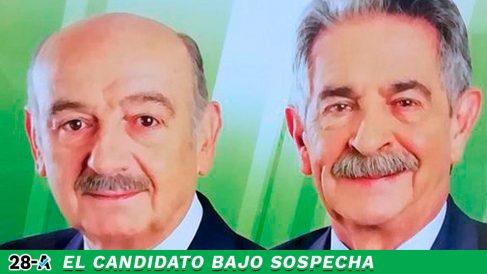 Miguel Ángel Revilla junto a su candidato al Congreso, José María Mazón
