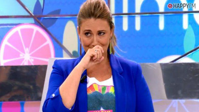 'Sálvame': Carlota Corredera, destrozada al recordar el tumor por el que tuvo que ser operada