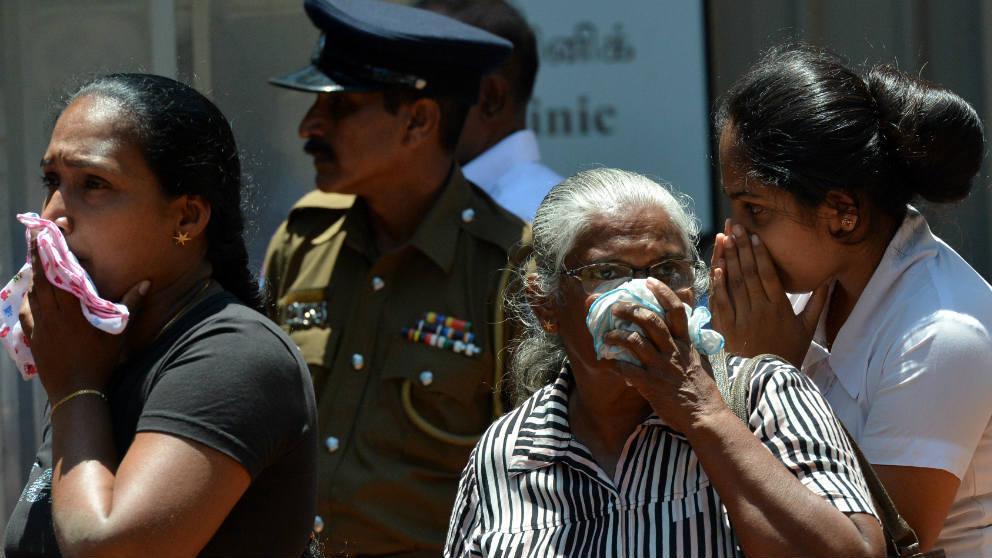 Familiares de las víctimas de los atentados de Sri Lanka