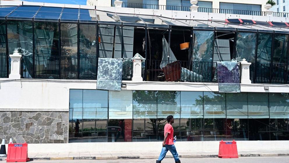 Uno de los hoteles donde se perpetró un atentado en Colombo, capital de Sri Lanka. Foto: AFP