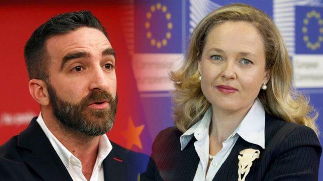 Francisco Polo junto a la ministra de Economía Nadia Calviño