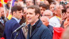 Pablo Casado, líder del PP y candidato a la presidencia por el mismo partido. Foto: Europa Press