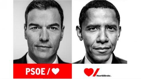 Pedro Sánchez y Barack Obama.