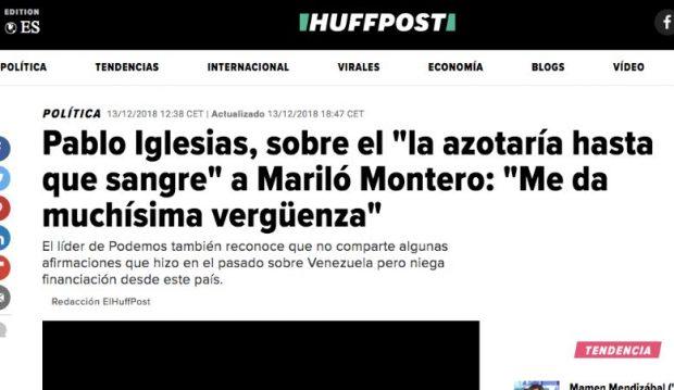 Tres medios de Prisa reprodujeron los insultos machistas de Iglesias a Mariló Montero