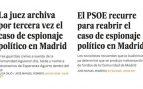 Romero también 'criminalizó' a los espías de Aguirre y al final fueron absueltos