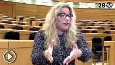 Ester Muñoz, candidata del PP al Senado por León.