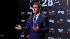 Albert Rivera en rueda de prensa tras el debate celebrado en RTVE con los cuatro candidatos a Presidente de los partidos mayoritarios. Foto: EFE