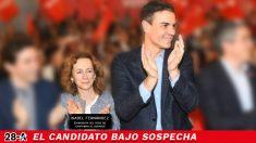 Los socialista Isabel Fernández junto a Pedro Casares junto a Pedro Sánchez