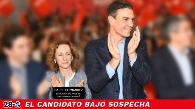 sabel Fernández junto a Pedro Casares junto a Pedro Sánchez