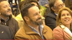Santiago Abascal en el acto de VOX en Las Rozas. Foto. Youtube.