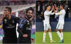 Cristiano, con Isco y Varane en su etapa en el Real Madrid.