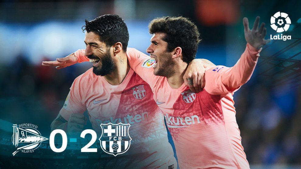 Aleñá y Luis Suárez ajusticiaron al Alavés.