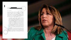 Susana Díaz, ex presidenta de la Junta de Andalucía, y el burofax a los guardias rurales fallecidos. (Fuente: OKDIARIO)