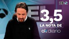 Pablo Iglesias en el debate de Atresmedia.