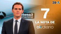 La nota de OKDIARIO a Albert Rivera en el debate de Atresmedia
