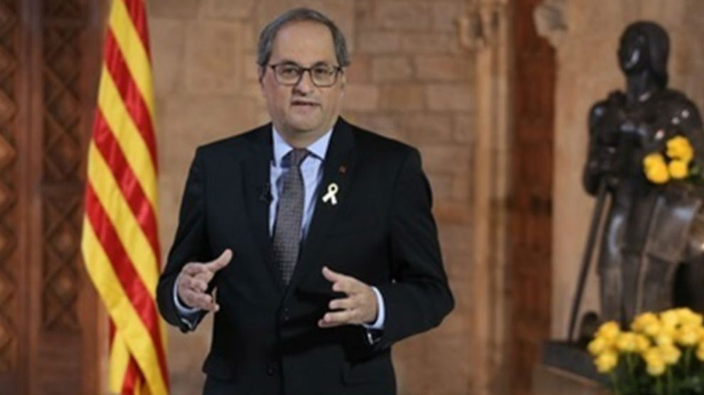 Quim Torra en su discurso de Sant Jordi