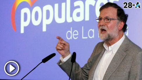 Mariano Rajoy, en el acto de campaña en La Nucía