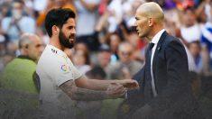 Zidane e Isco tienen pendiente hablar del futuro del malagueño.