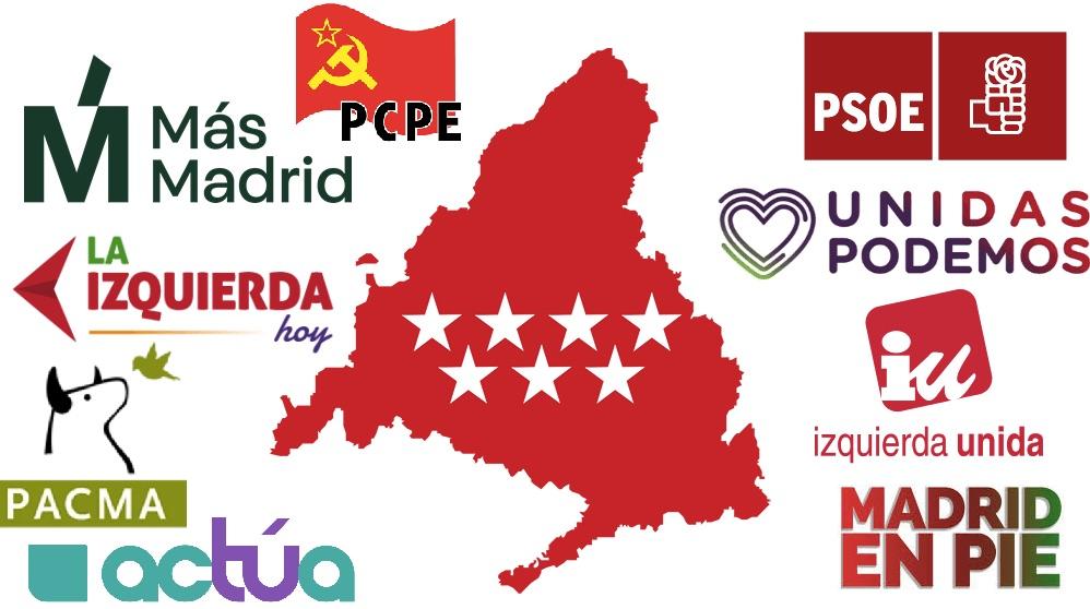 Algunas de las muchas candidaturas en los municipios de la Comunidad de Madrid.