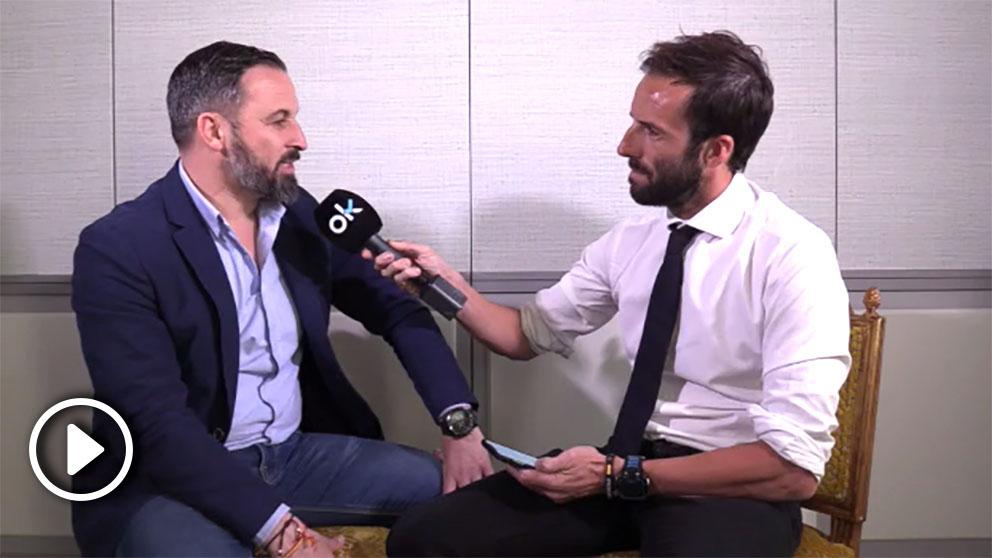 Santiago Abascal, líder de VOX, en la entrevista con Álvaro Ojeda.