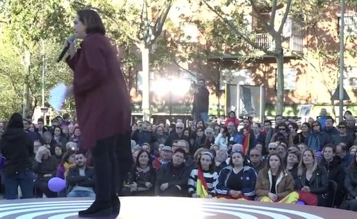 Iglesias pincha en el acto central de la campaña en Barcelona: no va ni su candidato