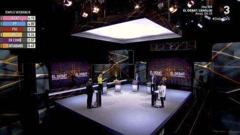 Un momento del debate en TV3