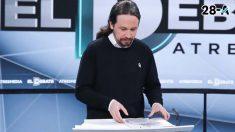 Pablo Iglesias durante el debate en Atresmedia (Foto: EP)