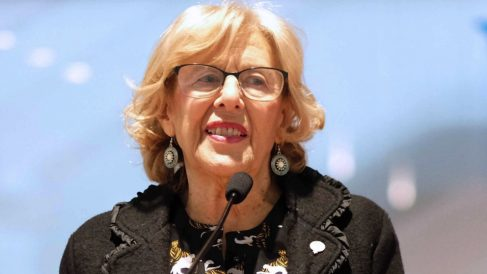 Manuela Carmena en un encuentro con juezas. (Foto. Madrid)