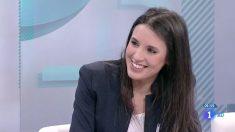 La número dos de Podemos, Irene Montero, durante la entrevista concedida a 'Los Desayunos de TVE'