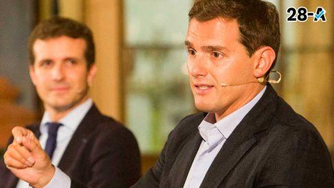 Albert Rivera y Pablo Casado. Foto. Europa Press