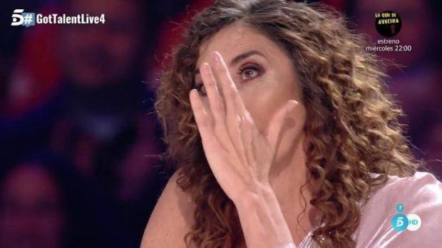 'Got Talent': Paz Padilla no puede más tras su metedura de pata en el programa